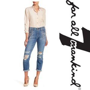 7 For All Mankind   Josefina Boyfriend Skinny Jean
